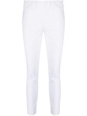 Хлопковые белые брюки узкого кроя Antonelli