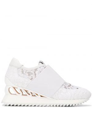Кожаные кроссовки - белые Le Silla
