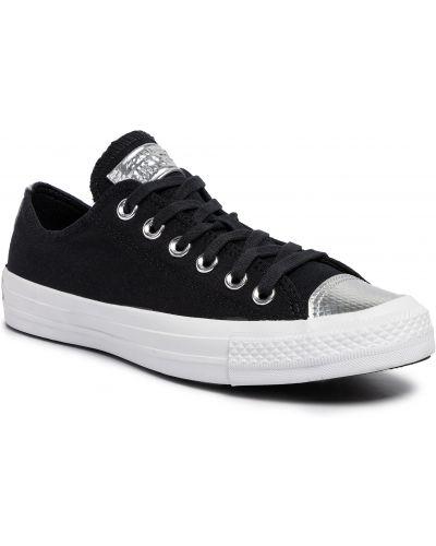 Sneakersy czarne białe Converse