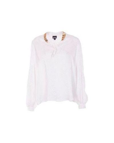 Белая блузка повседневная Just Cavalli