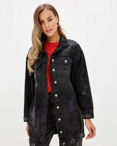 Джинсовая куртка черная весенняя D'she