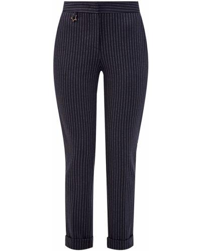 Повседневные шерстяные серые укороченные брюки Lorena Antoniazzi