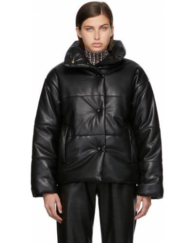 Черная стеганая куртка Nanushka