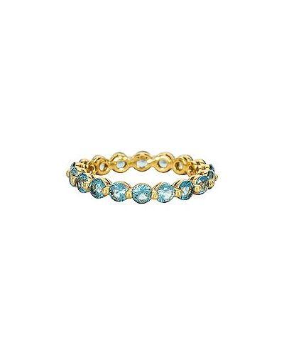 Niebieski złoty pierścionek Baublebar