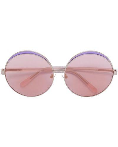 Очки розовый круглые N21