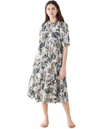 Платье с декольте в цветочный принт стрейч Generation Love