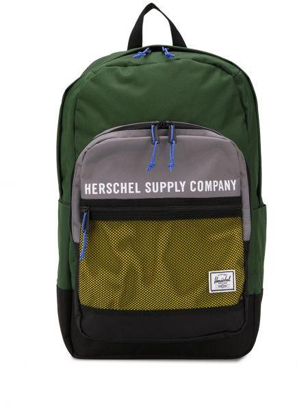 Рюкзак зеленый с принтом Herschel Supply Co
