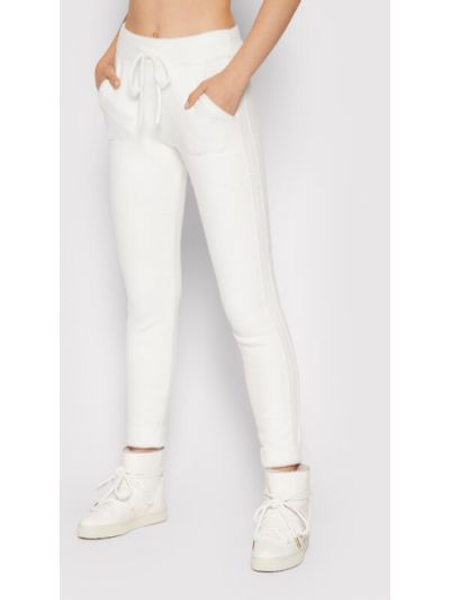 Białe spodnie materiałowe Deha