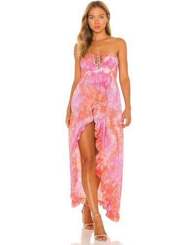 Кружевное платье макси - розовое Tiare Hawaii