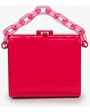 Кожаная сумка лаковый розовый Aldo