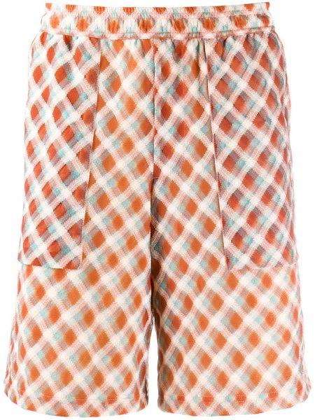 Pomarańczowe szorty z nylonu Goodfight