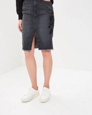 Серая джинсовая юбка O'stin
