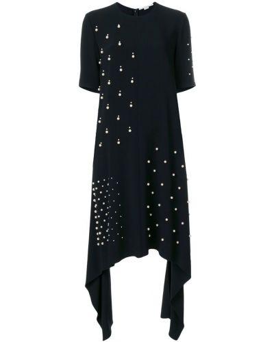 Платье миди мини с жемчугом асимметричное Stella Mccartney