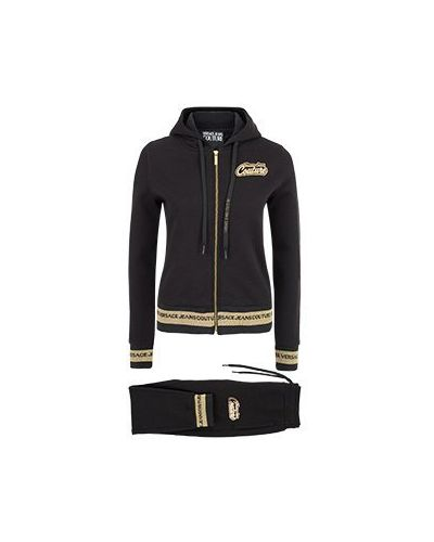 Хлопковый спортивный костюм - черный Versace Jeans Couture