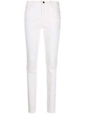 Хлопковые белые классические брюки с карманами Emporio Armani