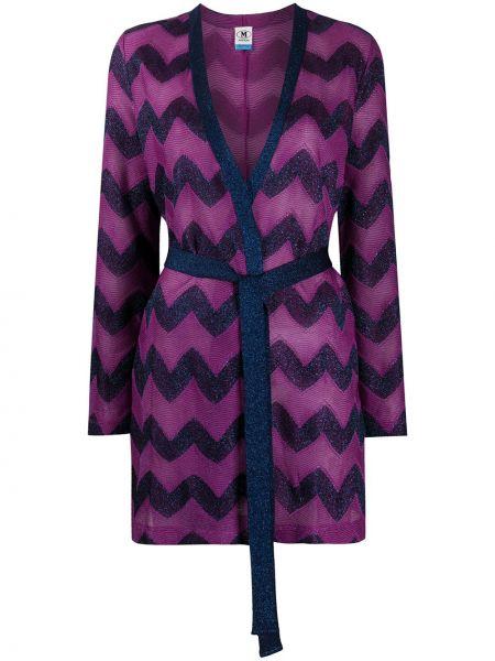 Хлопковое прямое розовое длинное пальто M Missoni