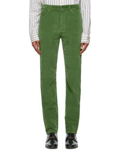 Черные брюки вельветовые с карманами Gucci