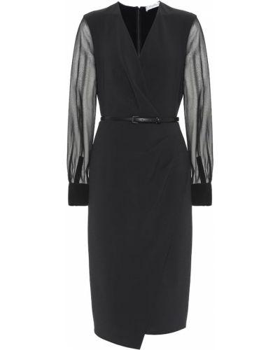 Платье шерстяное черное Max Mara