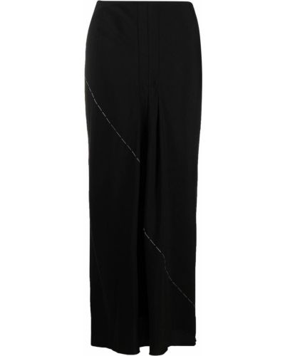 Льняная черная юбка для полных Yohji Yamamoto