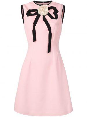 Шелковое платье - розовое Gucci