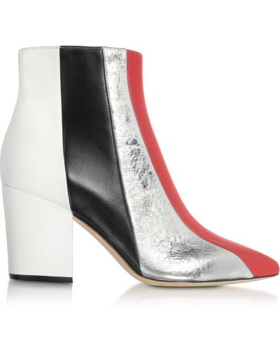 Białe ankle boots Sergio Rossi