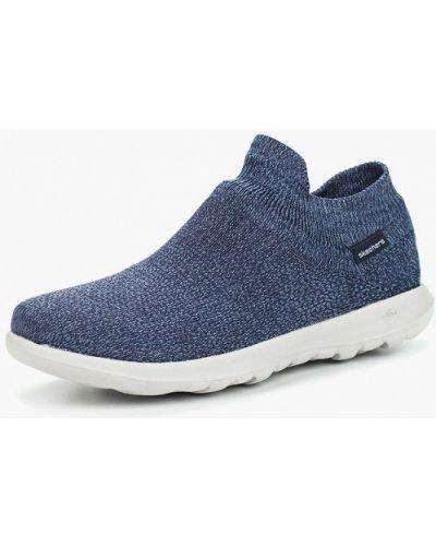 Синие высокие кроссовки Skechers