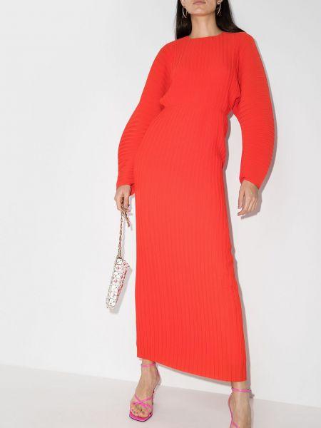 Платье макси длинное - оранжевое Solace London