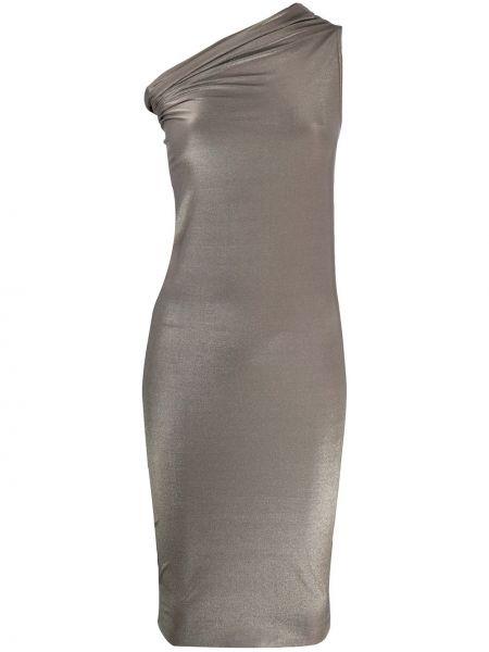 Платье на одно плечо серое Rick Owens Lilies