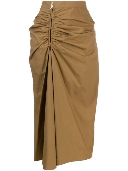 Beżowa spódnica midi z falbanami z wysokim stanem Givenchy