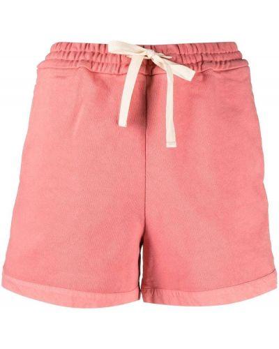 Różowe krótkie szorty bawełniane Jil Sander