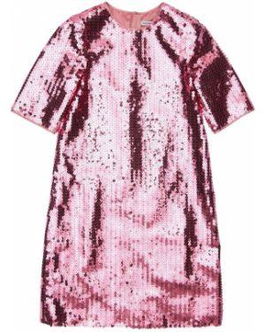 Платье с пайетками с декольте Dolce & Gabbana
