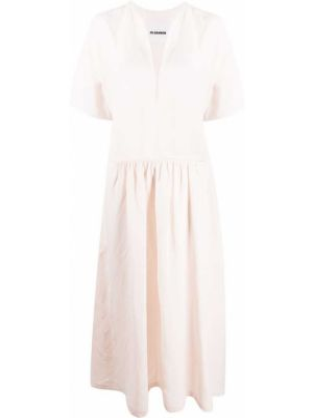 Платье мини розовое с заниженной талией Jil Sander