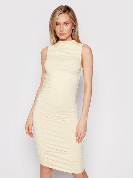 Sukienka casual - beżowa Na-kd
