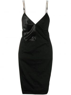 Wyposażone czarny z paskiem sukienka na paskach Rick Owens