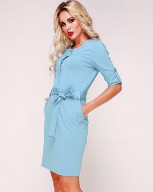 Деловое платье на пуговицах с поясом Ellcora