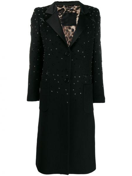 Шерстяное пальто - черное Philipp Plein