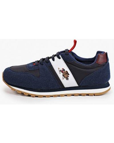 Синие текстильные низкие кроссовки U.s. Polo Assn.