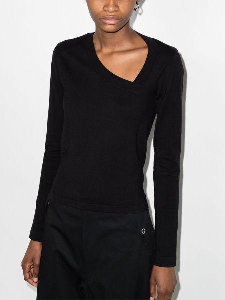Czarny t-shirt z długimi rękawami bawełniany Rta