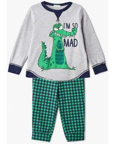 Пижама серая зеленый United Colors Of Benetton