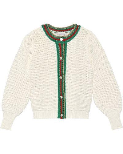 Кардиган итальянский белый Gucci Kids