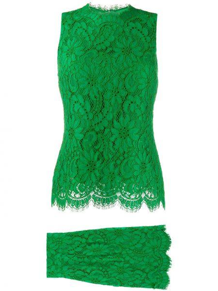 Нейлоновое ажурное платье без рукавов с вырезом Dolce & Gabbana Pre-owned