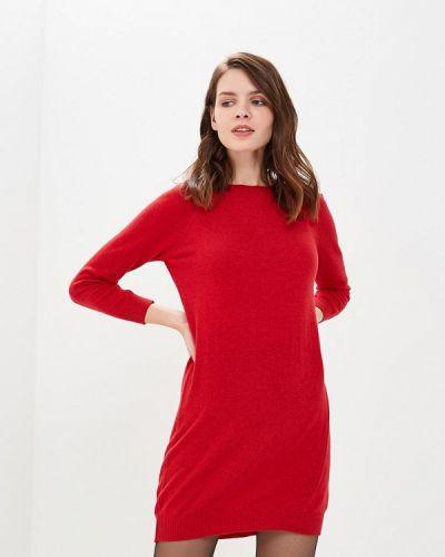 Платье вязаное красный Love Cashmere