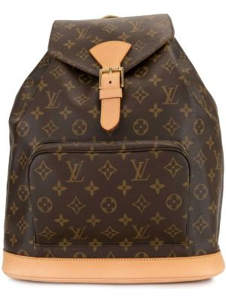 Skórzany plecak brezentowy z płótna Louis Vuitton Pre-owned