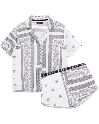 Пижама на шпильке - белая Dkny