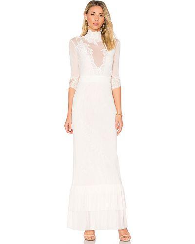 Biała sukienka koronkowa z siateczką Hah