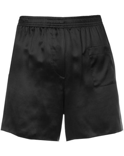 Шелковые шорты - черные Vera Wang