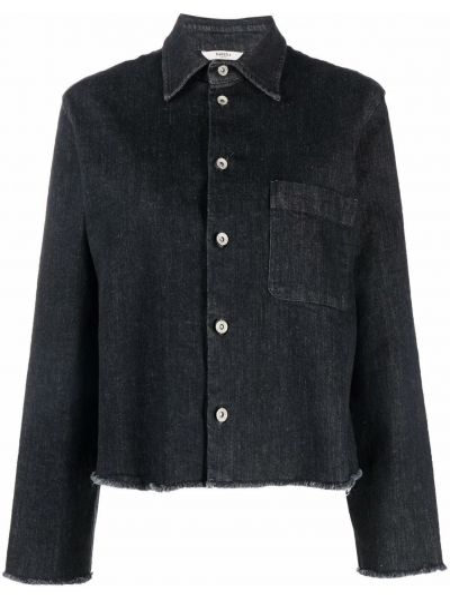 Czarna koszula z długimi rękawami Barena