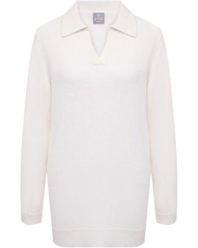 Трикотажный белый пуловер Ftc