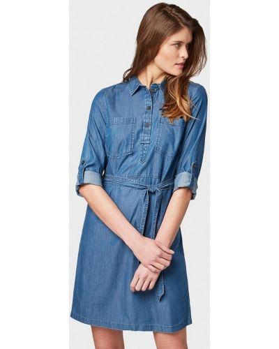 Джинсовое платье весеннее индийский Tom Tailor
