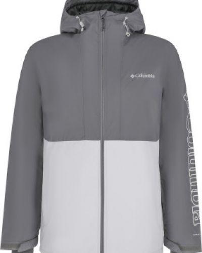 Прямая утепленная серая куртка Columbia